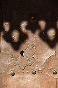Ornate keyhole in door, Sidi Bou Said, Tunisia