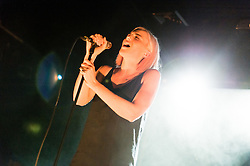 """© Licensed to London News Pictures. 28/05/2015. London, UK.   Indiana performing live at Scala.   Indiana (real name Lauren Henson) is a British singer-songwriter from Loughborough. Her 2015 debut album, No Romeo, includes the UK top 20 single """"Solo Dancing"""" (2014).  Photo credit : Richard Isaac/LNP"""
