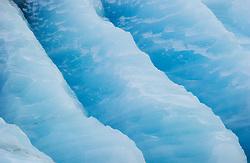Blue ice, details of ice berg, Nordaustlandet, Svalbard
