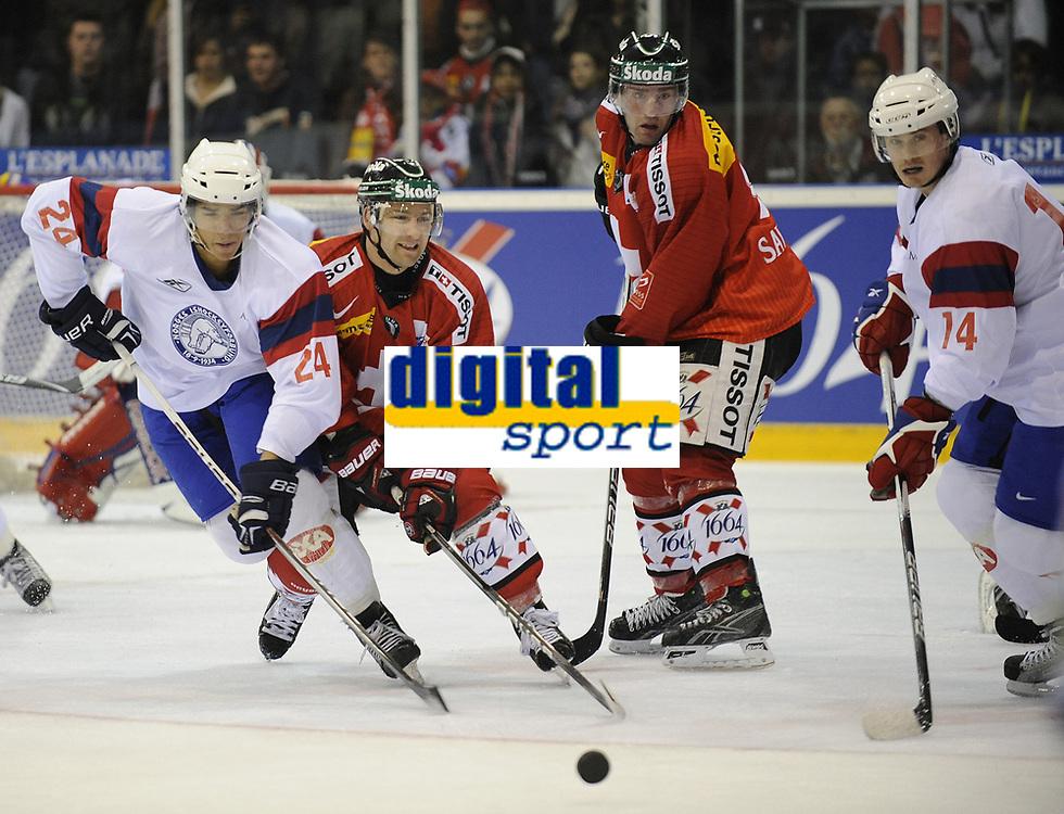 Andreas Martinsen und Peter Lorentzen (NOR) gegen Benjamin Pluess und Paul Savary (SUI) © Melanie Duchene/EQ Images