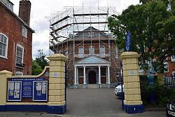 Octagon Unitarian chapel undergoing refurbishment, Norwich UK