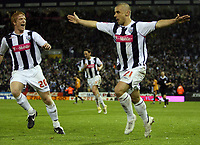 Photo: Rich Eaton.<br /> <br /> West Bromwich Albion v Wolverhampton Wanderers. Coca Cola Championship. Play off Semi Final 2nd Leg. 16/05/2007. West Broms Kevin Phillips (right) scores the first goal of the evening and celebrates with Paul McShane