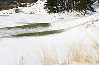 ZANDVOORT - Winter 2021. De Kennemer G&CC in de sneeuw. hole B9  COPYRIGHT  KOEN SUYK