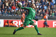 Shrewsbury Town goalkeeper (on loan from Derby County) Jonathan Mitchell (1) during the EFL Sky Bet League 1 match between Coventry City and Shrewsbury Town at the Ricoh Arena, Coventry, England on 28 April 2019.