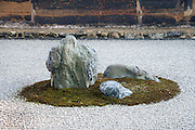 Zen Garden at the Ryoan-ji Temple Kyoto
