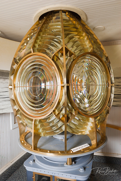 The Fresnel lens from the Anacapa Lighthouse, Anacapa Island, Channel Islands National Park, California