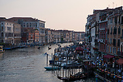 Grand Canal at dusk, Venice, Italy