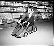 Electric Car Race at Supermarkets.<br /> 1971.<br /> 30.10.1971.<br /> 10.30.1971.<br /> 30th October 1971.<br /> Elect car races were held in Powers Supermarkets in Stillorgan,Blackrock Co Dublin and in Bray Co Wicklow.
