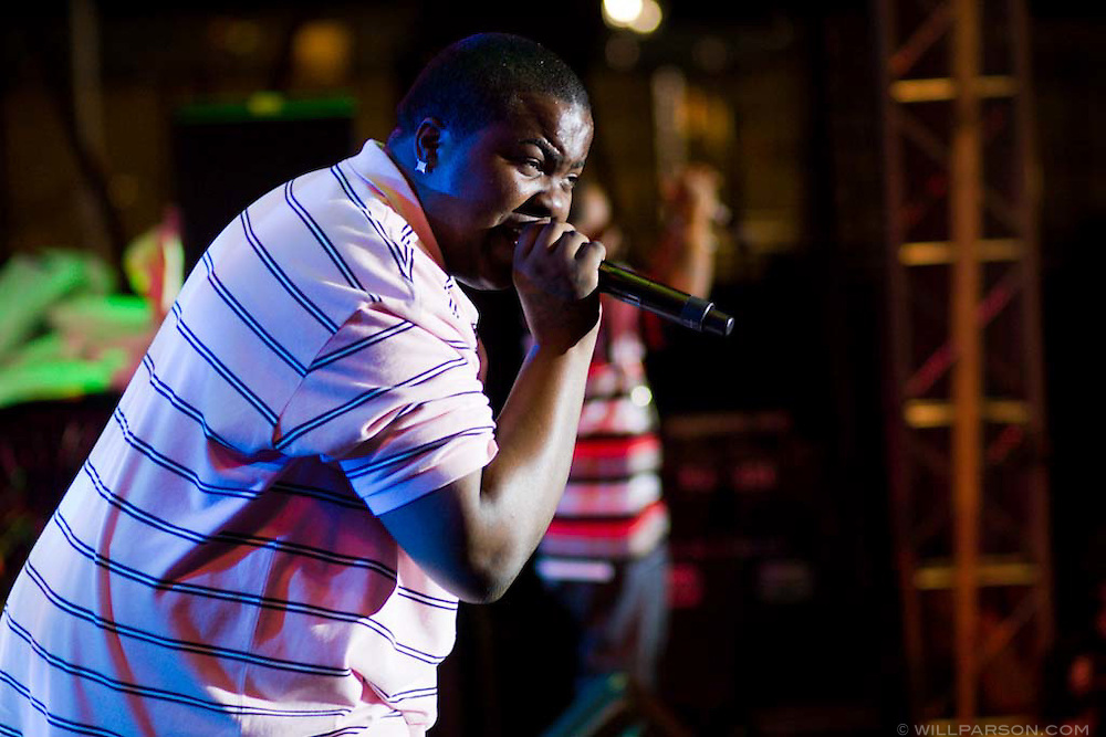 Sean Kingston performs during the Sungod Festival at UC San Diego in San Diego, California on May 16, 2008.