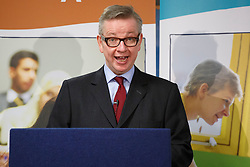 © licensed to London News Pictures. London, UK 03/02/2014. Education Secretary Michael Gove giving a speech on education reform at London Academy of Excellence on Monday, 3 February 2014. Photo credit: Tolga Akmen/LNP