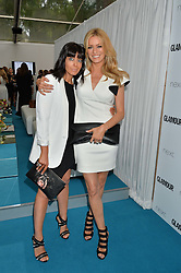 Left to right, CLAUDIA WINKLEMAN and TESS DALY at the Glamour Women of The Year Awards held in Berkeley Square, London on 2nd June 2015.