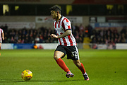 Lincoln City Midfielder Cameron Stewart in action during the EFL Sky Bet League 2 match between Lincoln City and Coventry City at Sincil Bank, Lincoln, United Kingdom on 18 November 2017. Photo by Craig Zadoroznyj.
