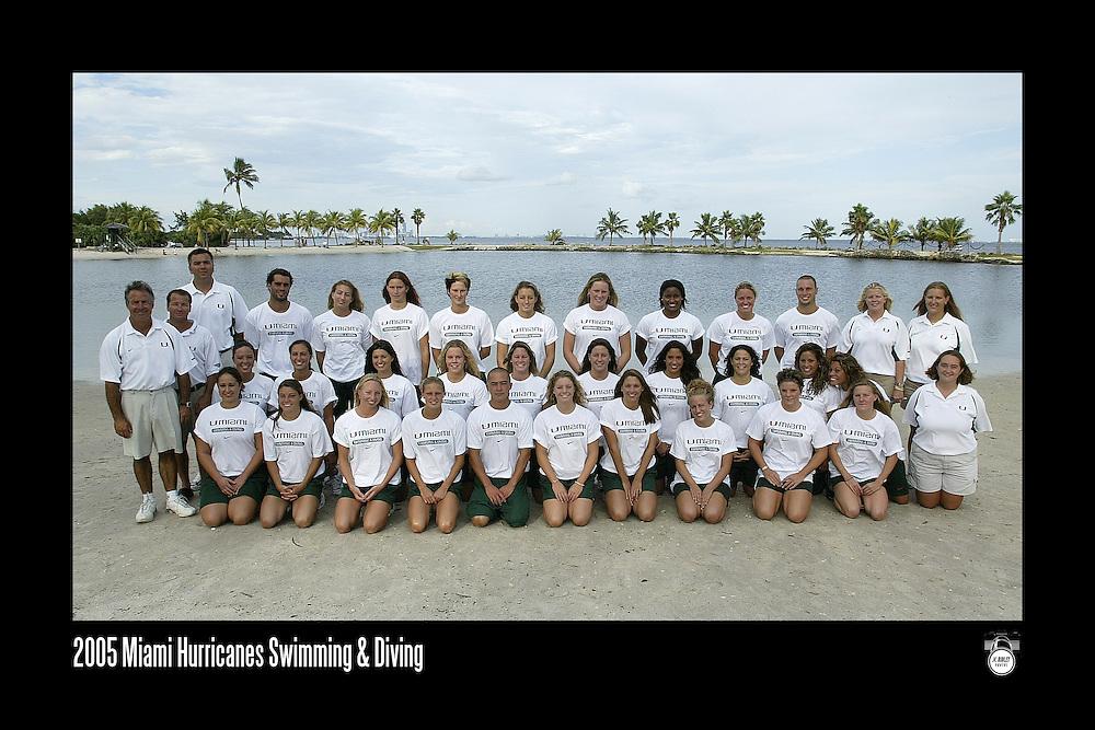 2005 Miami Hurricanes Swimming & Diving Team Photo