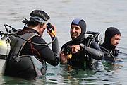 Taucher,  Eilat, Rotes Meer, Israel.|.divers , Eilat, Red Sea, Israel.