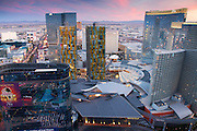 City Center including the Aria, Crystals, The Residences at Mandarian Oriental and Veer Towers, Las Vegas, Nevada.