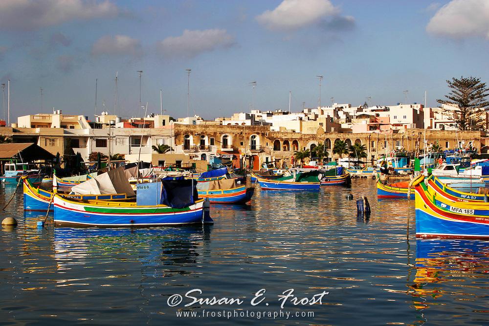Luzzu Boats, Marsaxlokk Harbour