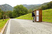 cabinet located in a mountain road, choosing the right look