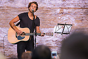 Paolo Nutini performing at the ONE Agit8 campaign, outside Tate Modern, London.