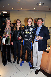Left to right, the DUCHESS OF NORFOLK, LADY RACHEL FITZALAN-HOWARD, HENRY ARUNDEL (Earl of Arundel) and the 18th DUKE OF NORFOLK at a party hosted by Links of London to launch their new Driver Chicane Chronograph Watch held at Lonks, Sloane Square, London on 24th September 2008.