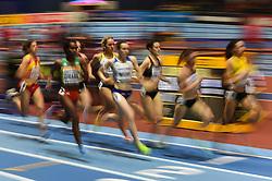 March 2, 2018 - Birmingham, England, United Kingdom - Genzebe Dibaba ofEthiopia at 1500 meter semi final at World indoor Athletics Championship 2018, Birmingham, England on March 2, 2018. (Credit Image: © Ulrik Pedersen/NurPhoto via ZUMA Press)
