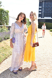 Genevieve Gaunt and Ella Jackson at the 'Cartier Style et Luxe' enclosure during the Goodwood Festival of Speed, Goodwood House, West Sussex, England. 15 July 2018.