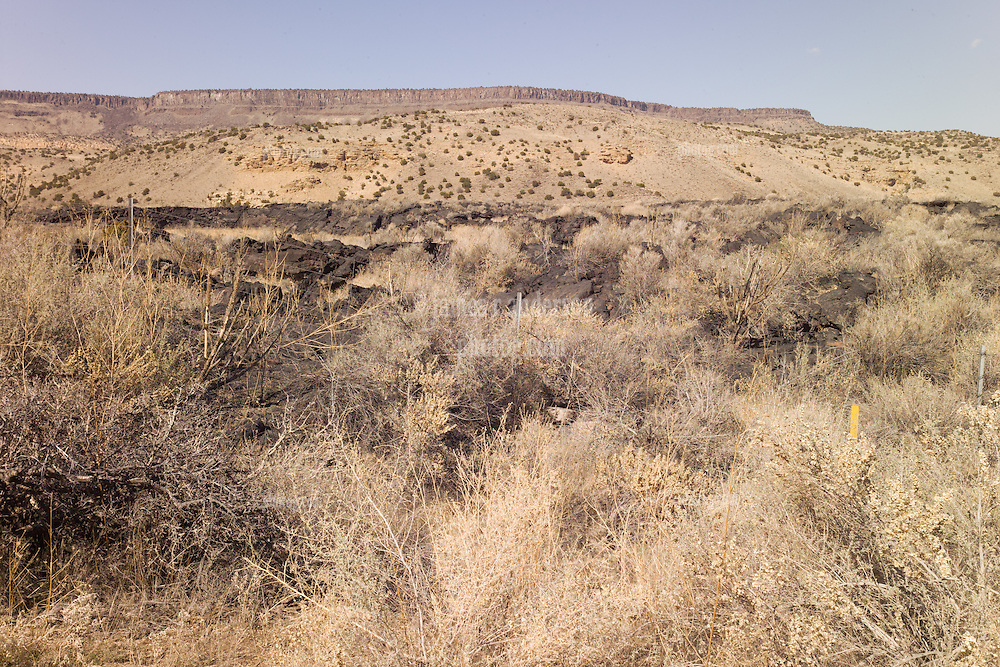 Malpais, Lava Flows, seen in Cibola County, New Mexico. Off the Historic Route 66 Highway.