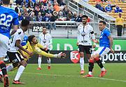 01/13/2018. Orlando, USA.  <br /> <br /> RANGERS FC v CORINTHIANS  2018 Florida Cup.  <br /> <br /> Rangers James Tavenier scoring during THE 2018 FLORIDA CUP match between RANGERS FC and CORINTHIANS.<br /> <br /> At  Spectrum Stadium, Orlando.<br /> Pic: Mark Davison /PLPA