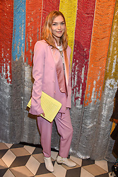 Arizona Muse at a cocktail supper hosted by BOTTLETOP co-founders Cameron Saul & Oliver Wayman, along with Arizona Muse, Richard Curtis & Livia Firth to launch the #TOGETHERBAND campaign at The Quadrant Arcade on April 24, 2019 in London, England.<br /> <br /> ***For fees please contact us prior to publication***