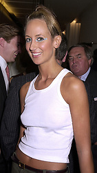 LADY VICTORIA HERVEY at a party in London on 27th September 2000.OHL 11