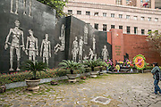"""Hanoi, Vietnam, Hoa Lo Prison, was a prison used by the French colonists in Vietnam for political prisoners, and later by North Vietnam for prisoners of war during the Vietnam War when it was sarcastically known to American prisoners of war as the """"Hanoi Hilton"""". Now a war museum"""