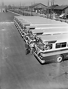 Y-480815D-01.  New twin coach bus at Center St. Steel & Richardson. August 15, 1948.