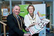 Galway launches 200 Gatherings ! Come home to Irelands Cultural Heart  with help of  Galway County Mayor Cllr Tom Welby  Galway City Mayor Cllr Terry O Flaherty  at Aras An Contae. Picture Andrew Downes..