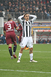 February 18, 2018 - Turin, Piedmont, Italy - Paulo Dybala (Juventus FC) disappointed during the Serie A football match between Torino FC and Juventus FC at Olympic Grande Torino Stadium  on 18 February, 2018 in Turin, Italy. Juventus won 0-1 over Torino. (Credit Image: © Massimiliano Ferraro/NurPhoto via ZUMA Press)
