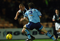 Photo: Paul Greenwood.<br />Port Vale v Swansea City. Coca Cola League 1. 18/11/2006. Swansea's Lee Trundle takes on George Pilkington