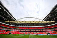 General view inside Wembley Stadium ahead of the FA Community Shield match between Manchester City and Liverpool at Wembley Stadium, London, England on 4 August 2019.