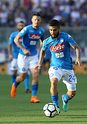 April 29, 2018 - Florence, Italy - Lorenzo Insigne of Napoli during the Serie A match between ACF Fiorentina and SSC Napoli at Stadio Artemio Franchi on April 29, 2018 in Florence, Italy. (Credit Image: © Matteo Ciambelli/NurPhoto via ZUMA Press)