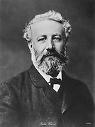 Jules Verne (1828-1905). French novelist. Photograph.