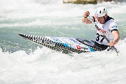 Benjamin Savsek of Slovenia competes in Canoe Single (C1) Men during International Slalom Kayak-Canoe competition, on May 6, 2018 in Tacen, Ljubljana, Slovenia. Photo by Vid Ponikvar / Sportida