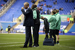 """Queens Park Rangers manager Steve McClaren (left) before the Sky Bet Championship match between Reading and Queens Park Rangers. PRESS ASSOCIATION Photo. Picture date:  Tuesday October 2, 2018. See PA story SOCCER Reading. Photo credit should read: Andrew Matthews/PA Wire. RESTRICTIONS: EDITORIAL USE ONLY No use with unauthorised audio, video, data, fixture lists, club/league logos or """"live"""" services. Online in-match use limited to 120 images, no video emulation. No use in betting, games or single club/league/player publications"""