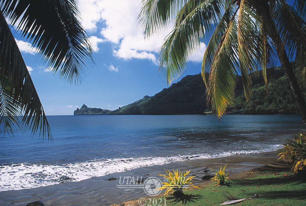 Quiet beach on NukuHiva in the Marquesas Islands, South Pacific
