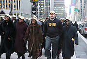 20 February 2009 NY, NY - NAACP at Day 2 of New York Post Protest by Rev. Al Sharpton and The National Network against offensive cartoon depicting dead Chimpanzee as President Obama.