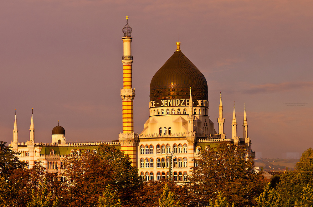Yenidze (a former tobacco factory that looks like, but is not, a mosque), Dresden, Saxony, Germany