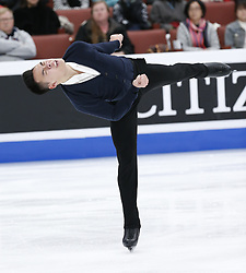 February 7, 2019 - Los Angeles, U.S - Nam Nguyen of Canada competes in the Men Short Program during the ISU Four Continents Figure Skating Championship at the Honda Center in Anaheim, California on February 7, 2019. (Credit Image: © Ringo Chiu/ZUMA Wire)