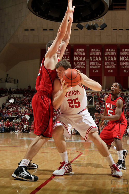 17 December 2010: Indiana forward Tom Pritchard (25) as the Indiana Hoosiers played the Southern Illinois University at Edwardsville Cougars in a college basketball game in Bloomington, Ind.