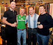 Eamonn Hornibrook Galwegians with Trevor Brennan Frankie Sheahan and Paul Wallace  at the Guinness Area22 event in the Carlton Hotel Galway..