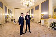 Secretaris-generaal Anders Fogh Rasmussen van de NAVO is in paleis Noordeinde op audiëntie bij koning Willem-Alexander. Rasmussen is in Den Haag ter voorbereiding voor de NAVO-top begin september in Wales. <br /> <br /> Secretary-General Anders Fogh Rasmussen, NATO's Palace Noordeinde in audience by King Willem-Alexander. Rasmussen is in The Hague, in preparation for the NATO summit in early September in Wales.