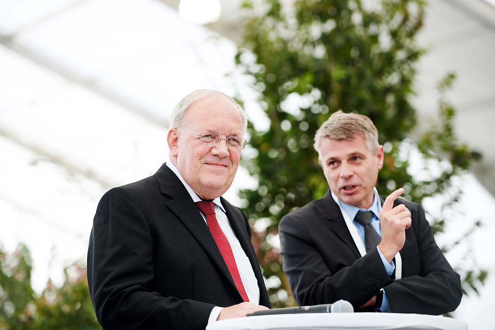 Medienkonferenz mit Bundesrat Johann Schneider-Ammann, Regierungsrat Christoph Ammann und Stadtpraesident Alec von Graffenried. © Manu Friederich
