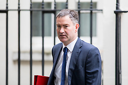 © Licensed to London News Pictures. 21/09/2017. London, UK. Work and Pensions Secretary David Gauke leaving No 10 Downing Street after attending a Cabinet meeting this morning. Photo credit : Tom Nicholson/LNP