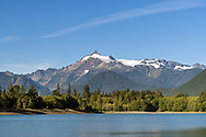 Mount Shuksan from Baker Lake in the Mount Baker-Snoqualmie National Forest in Washington State, USA