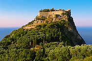 Angelokastro, [ Angelos Komnenos Castle ]  Byzantine Castle, Corfu Ionian Island, Greece .<br /> <br /> If you prefer to buy from our ALAMY PHOTO LIBRARY  Collection visit : https://www.alamy.com/portfolio/paul-williams-funkystock/corfugreece.html <br /> <br /> Visit our GREECE PHOTO COLLECTIONS for more photos to download or buy as wall art prints https://funkystock.photoshelter.com/gallery-collection/Pictures-Images-of-Greece-Photos-of-Greek-Historic-Landmark-Sites/C0000w6e8OkknEb8